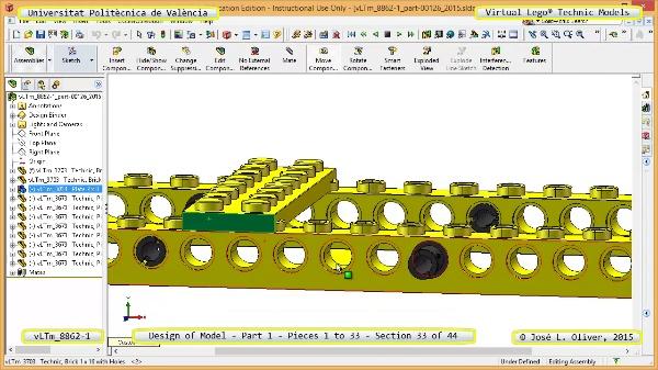 Creación Virtual Modelo Lego Technic 8862-1 ¿ Pieza 1 ¿ 33 de 44