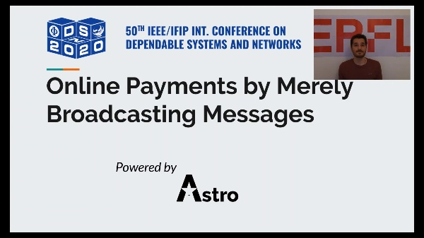 Online Payments by Merely Broadcasting Messages