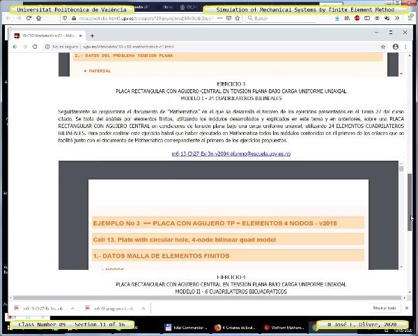 Métodos Numéricos para Análisis Estructural ¿ MN ¿ 2020 ¿ Clase 09 ¿ Tramo 11 de 16