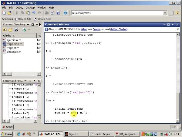 Tema 4. Integración numérica. Algoritmo de Simpson