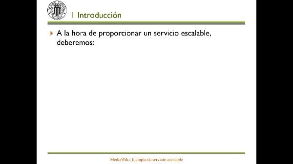 MediaWiki: Ejemplo de servicio escalable