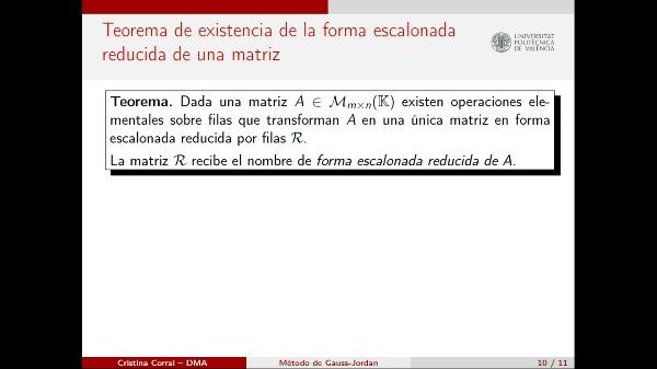 El Método de Gauss-Jordan