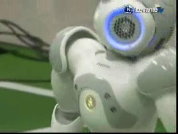 Entrenamiento Robots NAO, Robocup 2011 Levante TV