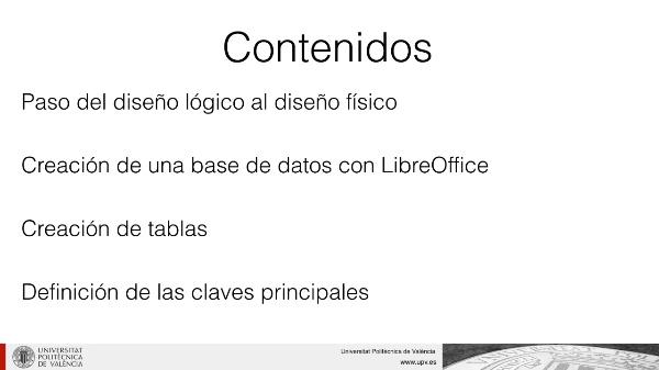 Creación de una base de datos con LibreOffice