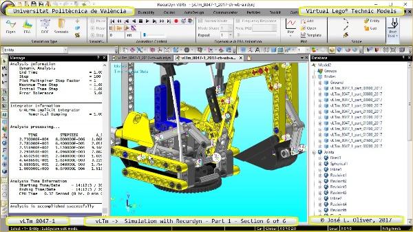 Simulación Cinemática Lego Technic 8047-1 con Recurdyn - Parte 1 ¿ 6 de 6