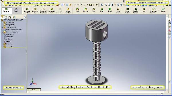 Montaje Modelo Lego Technic 8459-1 con Solidworks ¿ 10 de 11 - no audio
