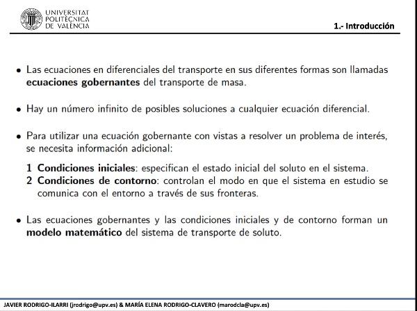02.06.- Soluciones analíticas de la ecuación del transporte