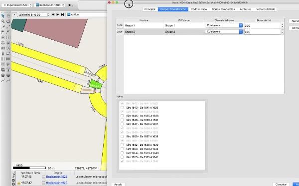 Instalación y configuración de semáforos en AIMSUN