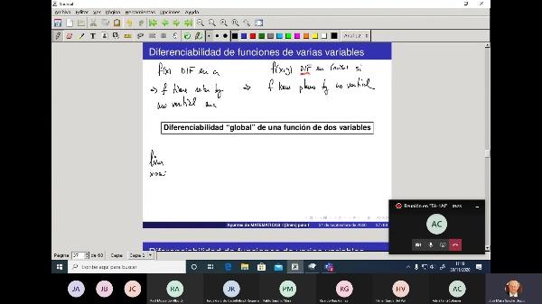 Matemáticas 1 GITI grupo A  Clase 23