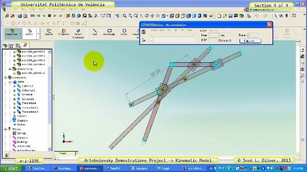 Simulación Mecanismo a_z_1196 con Cosmos Motion - 4 de 4