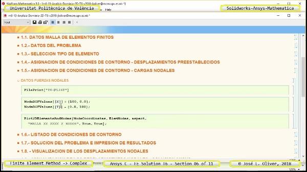 Solución Elementos Finitos Dominio-Plano en Ansys-Classic y Mathematica -T6- v2018 - 06 de 11