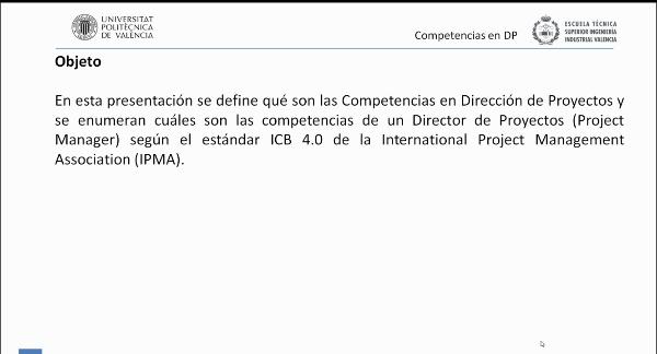 Competencias en Dirección y Gestión de Proyectos