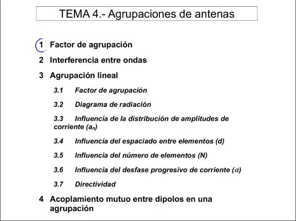 4.3.1.- Agrupación Lineal: Factor de agrupación