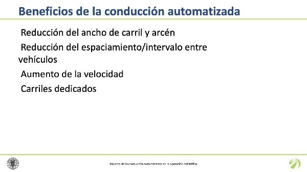 Impacto de la conducción automatizada en la operación del tráfico