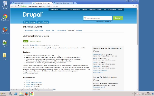 Utilitats d'administració en Drupal