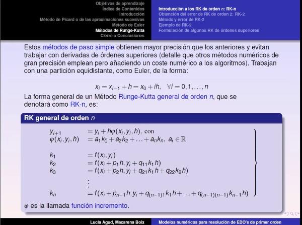 Métodos numéricos para EDO's parte 5: RK-n y RK-2