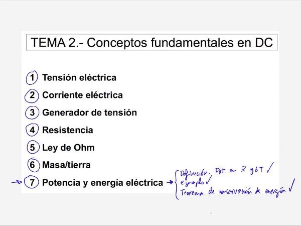 Teoría de Circuitos: 2.14.2.- Ejercicio de conservación de la energía