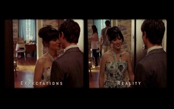 "Escena \""Reality - Expectations\"" de la Película 500 Days of Summer"