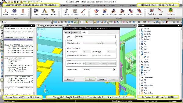 Simulación Cinemática Thag_WalkingM-BarPlant1cInv-wb-v8r5 con Recurdyn - LegTa - 3 de 3