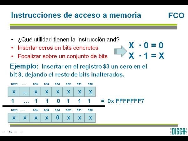 Instrucciones logicas en MIPS R2000