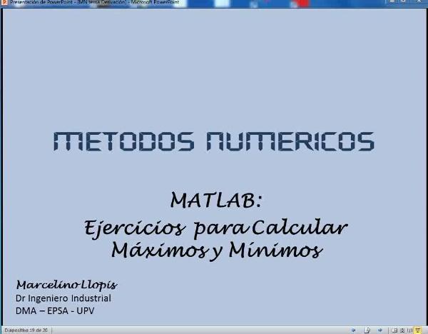 MN-DE-10 Ejercios Propuestos de Máximos y Mínimos