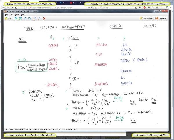 Mecánica y Teoría de Mecanismos ¿ 2020 ¿ MM - Clase 15 ¿ Tramo 04 de 12