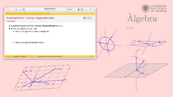 Caracteirtzació de les matrius diagonalitzables