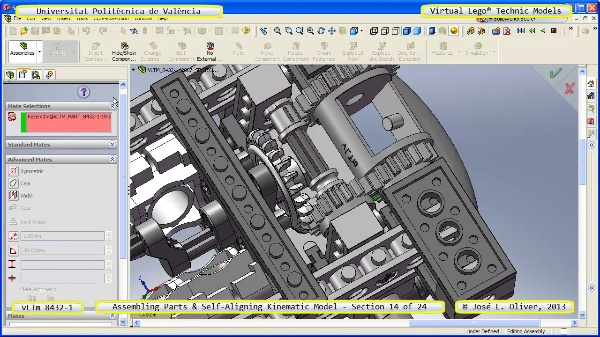 Simulación Cinemática Lego Technic 8432-1 con Cosmos Motion ¿ 14 de 24 - no audio