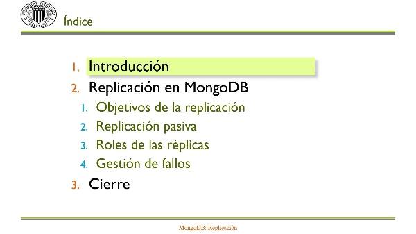 MongoDB: Replicación