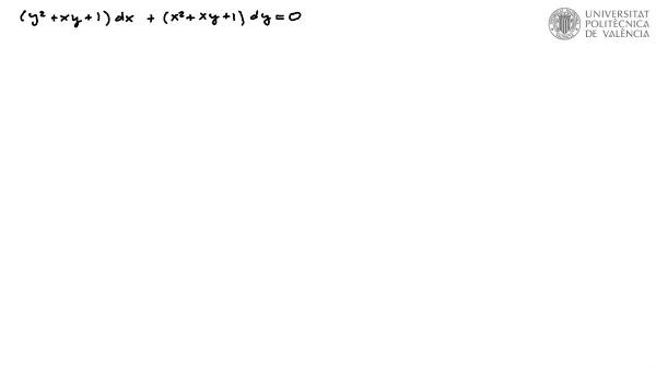Ecuación diferencial reducible a exacta por factor integrante