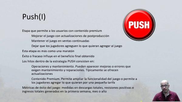 Producción del juego. Fase Push y análisis postmorten