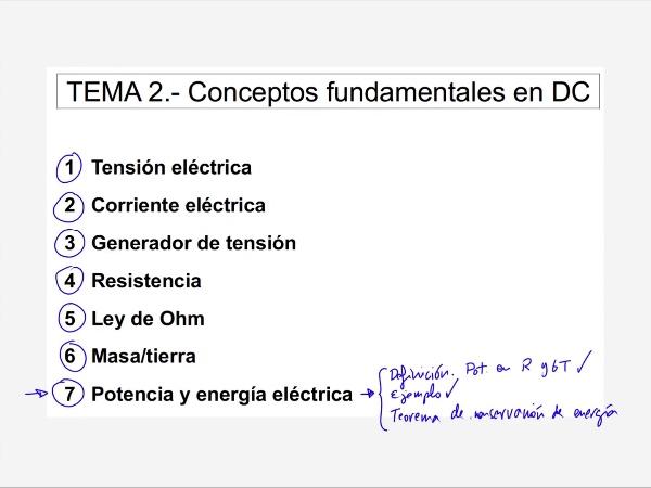 Teoría de Circuitos: 2.14.1.-  Teorema de conservación de la energía