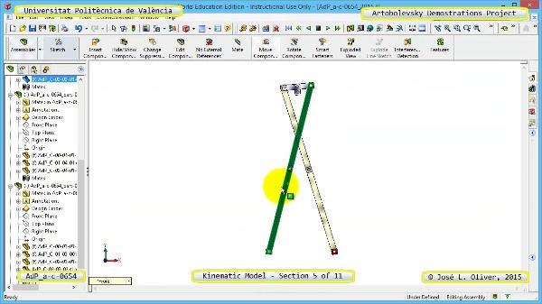 Simulación Mecanismo a-c-0654 con Cosmos Motion - 05 de 11