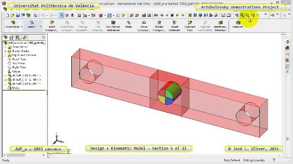 Creación Virtual y Simulación Mecanismo a-z-1093 con Cosmos Motion - 05 de 11