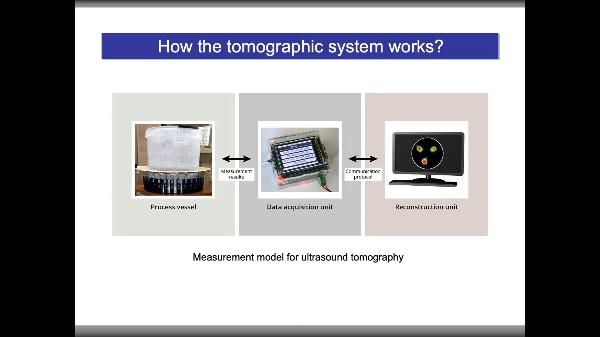 Tomographic measuring sensors system for analysis and visualization of technological processes