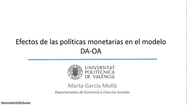 La demanda y la oferta agregadas: políticas monetarias