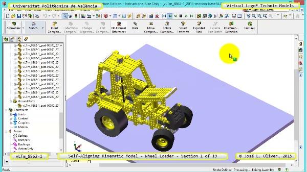 Simulación Cinemática Modelo Lego Technic 8862-1 -Cargador- 01 de 19