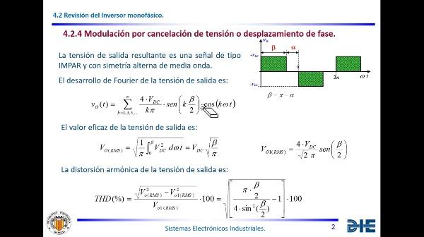 Tema 4. Desplazamiento de fase y cancelación de armónicos.