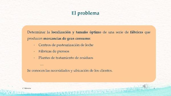 PROGRAMACIÓN ENTERA. LOCALIZACIÓN DE INDUSTRIAS/SERVICIOS