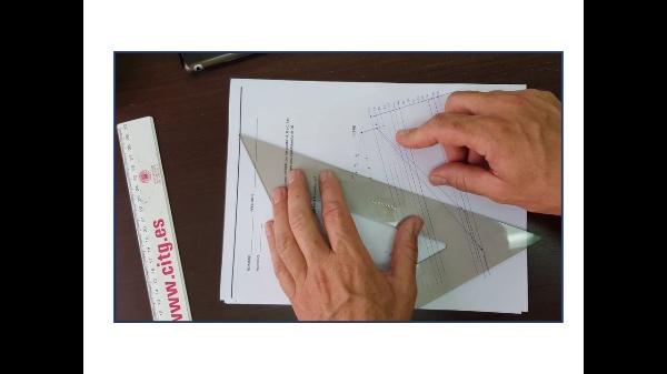 Dibujar un plano en el sistema de planos acotados - solución del problema