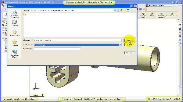 Análisis Estático Componente Lego Technic con Visual Nastran Desktop 2005