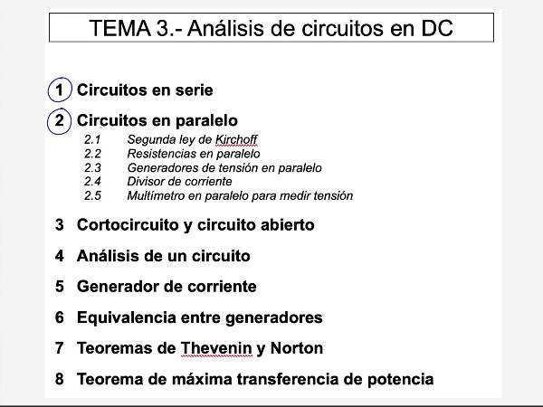 Teoría de Circuitos 1. Lección 3. 2.2.b.1 Resistencias en paralelo, ejercicio 1