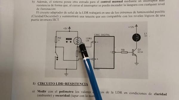 Electrónica Digital. Práctica 1. Circuitos integrados digitales. Iluminación automática.