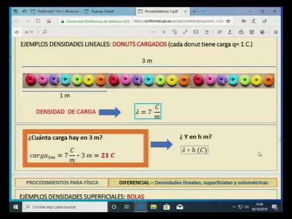 Física 1. Lección 4. Densidades lineales, superficiales o volumétricas