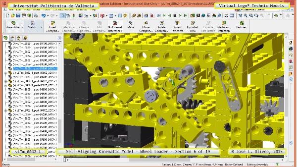 Simulación Cinemática Modelo Lego Technic 8862-1 -Cargador- 06 de 19