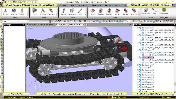 Simulación Dinámica Lego Technic 8047-1 sobre Base ¿ Parte 2 - 2 de 2