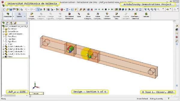 Creación Virtual Mecanismo a-z-1196 con Solidworks - 5 de 6