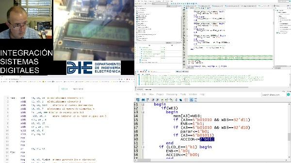 Verificación hardware RISCV con LCD