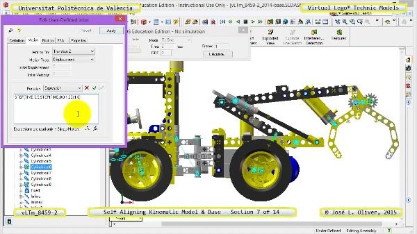 Simulación Dinámica Lego Technic 8459-2 sobre Base ¿ 07 de 14