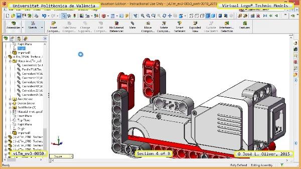 Creación Virtual Modelo Lego Technic - Isogawa ¿ ev3-0050 ¿ 4 de 9